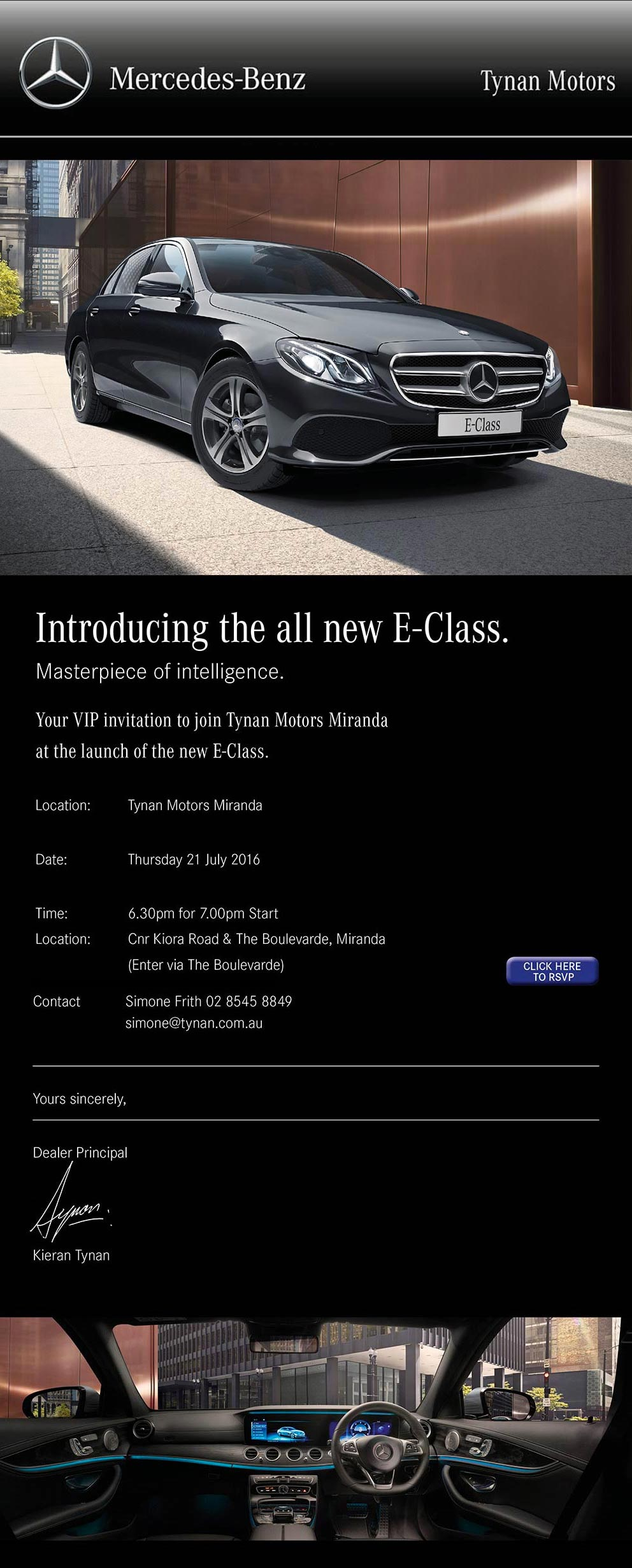 Used Cars Dealerships >> Invitation to Mercedes-Benz E-Class Launch - Tynan Motors Car Sales