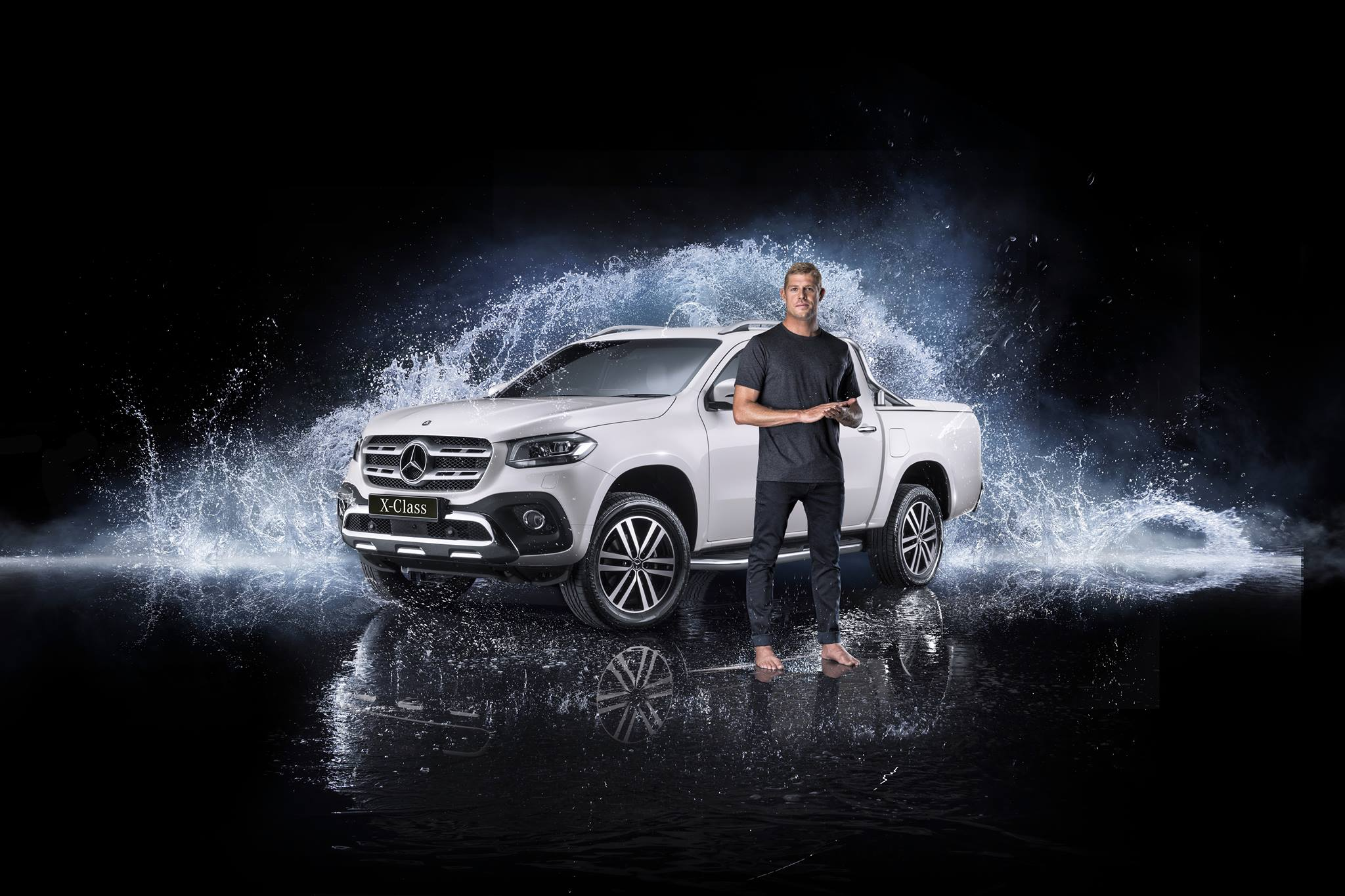 Mick fanning ambassador for mercedes benz vans australia for Mercedes benz brand ambassador