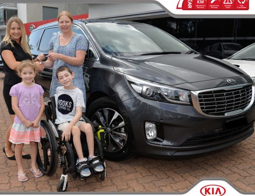 Tynan Motors Kia helping Cale to get out and about.
