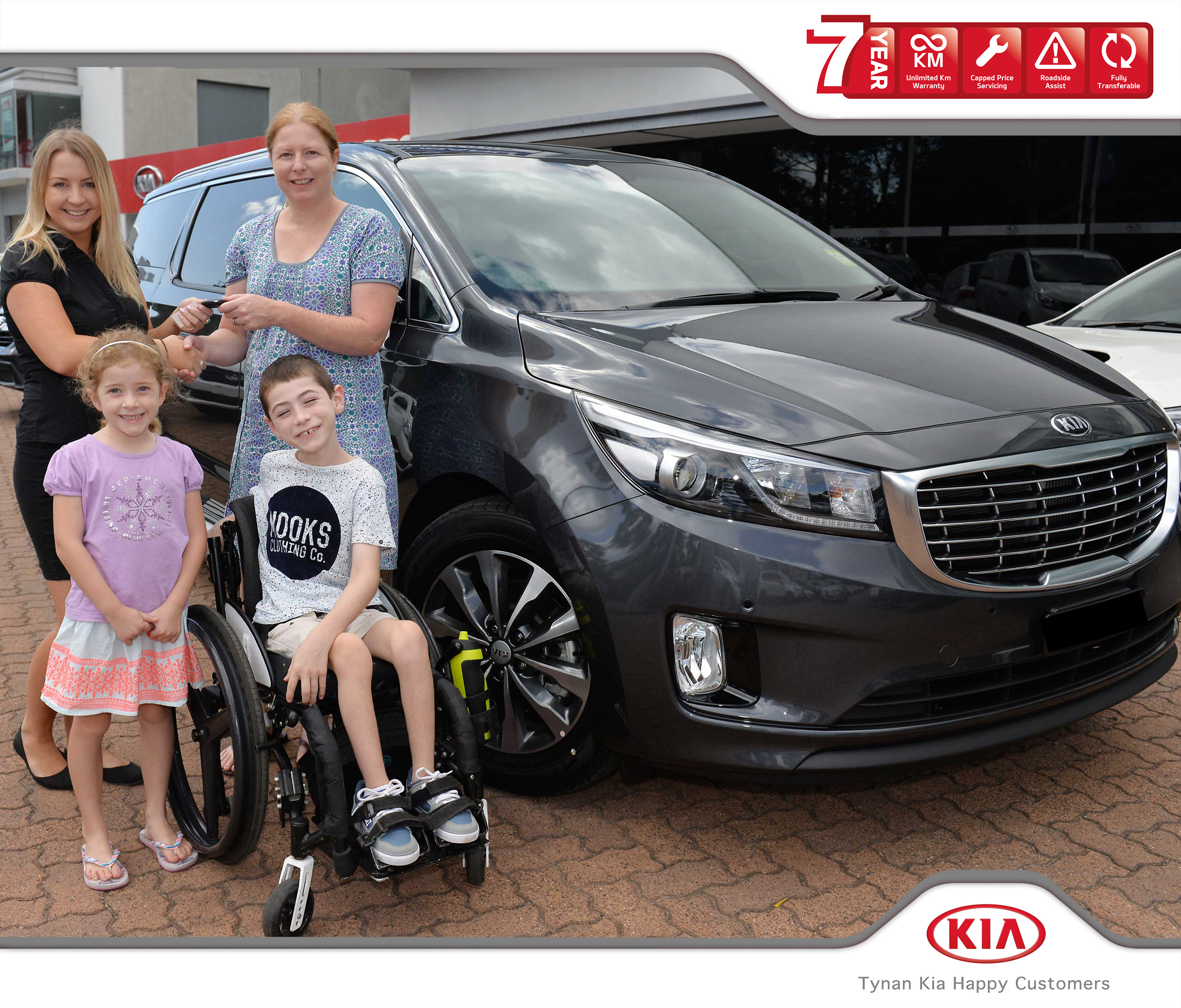 Tynan motors kia helping cale to get out and about for Kia motors customer service